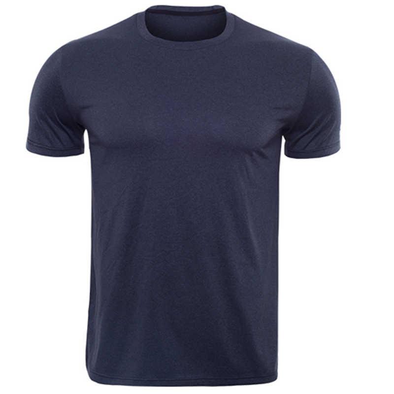 Menjalankan T-shirt Pria Kaos Olahraga Kebugaran Kaos Binaraga Tops CrossFit T Shirt Camiseta Sweatshirt Sporty Jersey untuk Mans