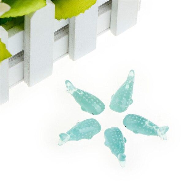 5pcs Sea Whale Mini Fish Miniature Houses Mini Craft Micro Landscaping Decor Fairy Garden Home Decoration 3
