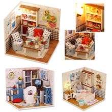 DIY Miniature Doll House Casa With Furniture 3D Model Dollhouse Handmade Toys Gift For Children Warm Home M002 M003 M004 M004 #E