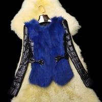 Winter New Fashion Genuine Leather jacket,Elegant Slim Women's Fox fur down coat Girl's Real leather coat Free shipping FQ7099