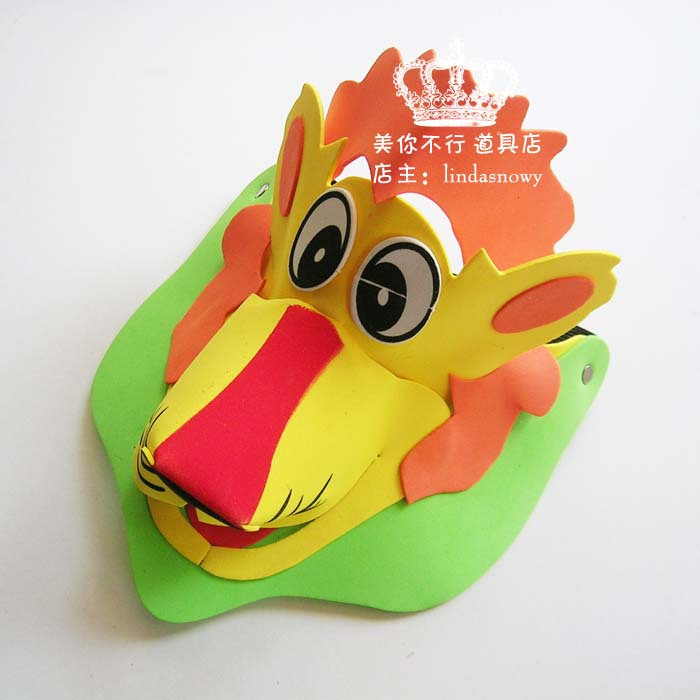 Kindergarten toy animal style hair accessory animal hat child lion hat hair accessory