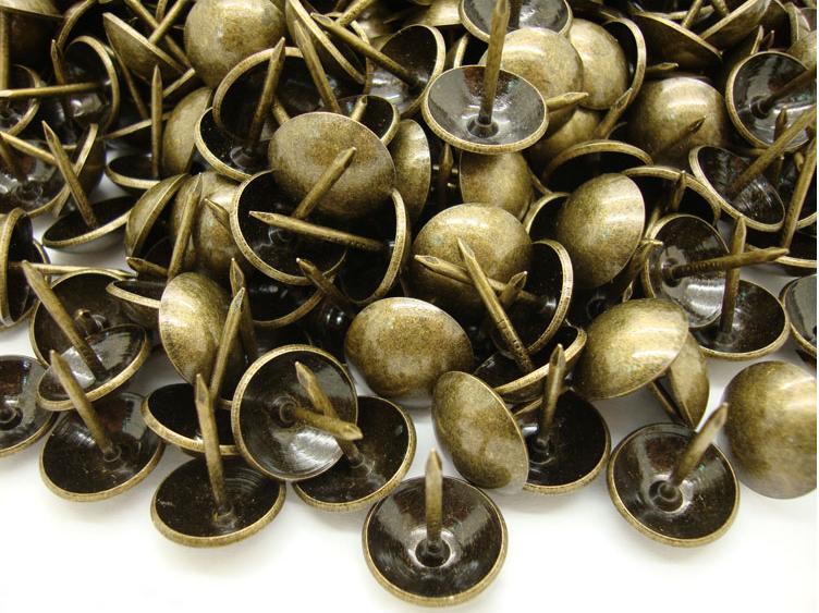 1000pcs Antique Nail Jewelry Gift Case Box Wall Door Sofa Furniture Decorative Tack Stud Pushpin Hardware
