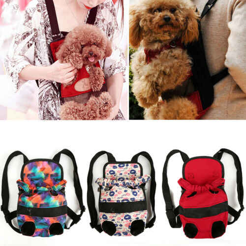 Pet Carrier Backpack Adjustable Pet Front Cat Dog Carrier Travel Bag Legs Out K