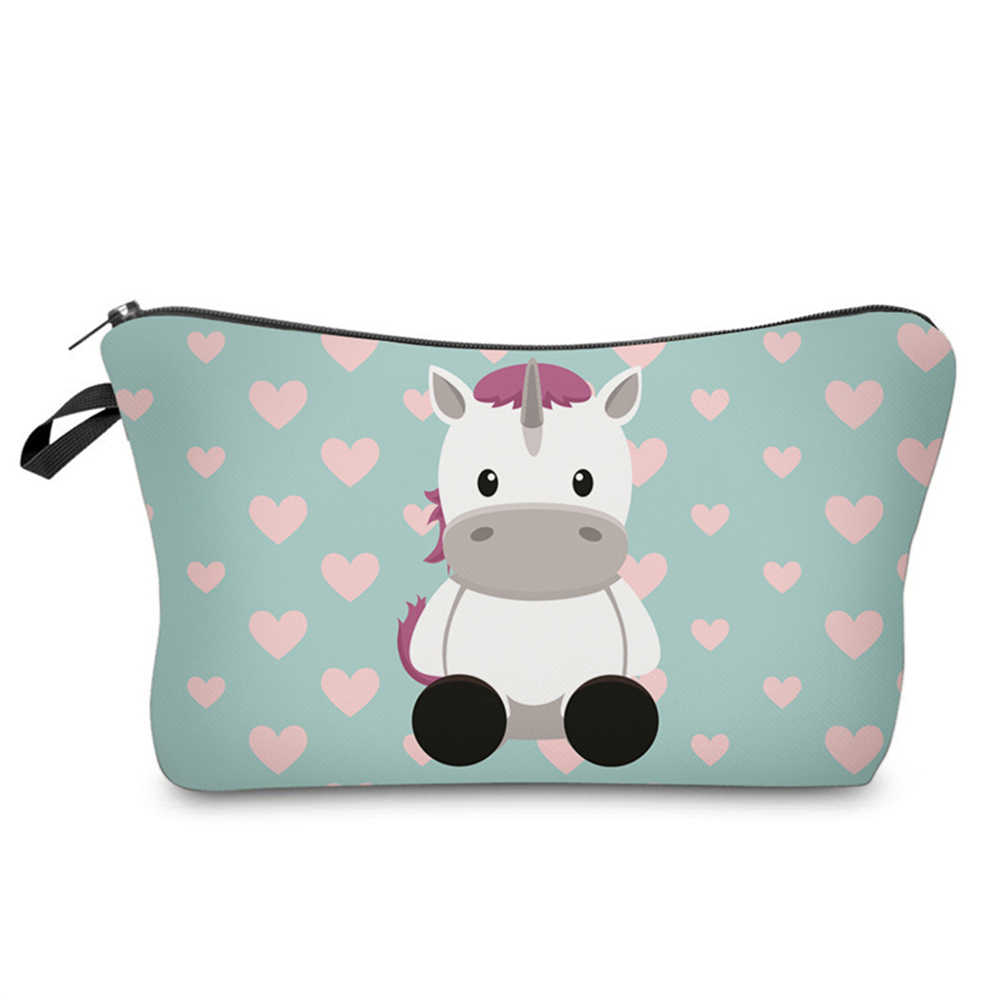 313de0abfd04 GABWE New Women Unicorn Cosmetic Bags Cute Makeup Bag For Girls Travel  Toiletry Organizer Make Up Pouch Neceser Mujer Maquillaje