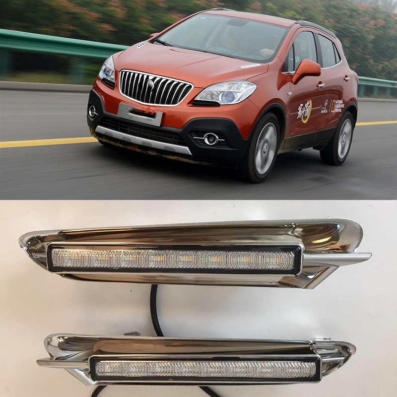 Car Flashing 1Pair DRL For Buick Encore Opel Mokka 2012 2013 2014 2015 Daytime Running Lights