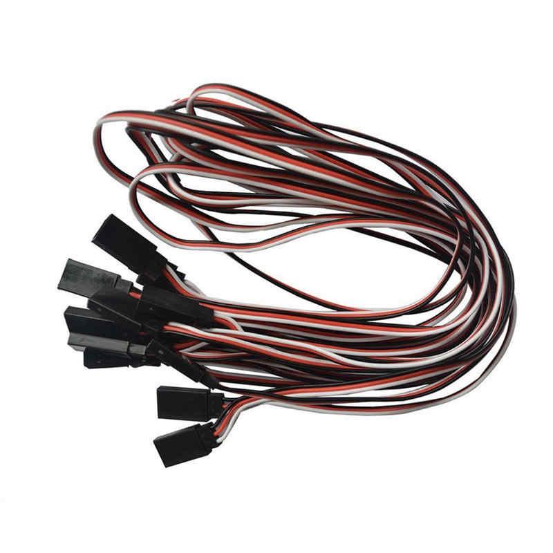 1pc RC servo kabel verlengkabel 10cm 20cm 30cm 50cm 60cm draad voor RC onderdelen accessoires JR Futaba man vrouw plug connector