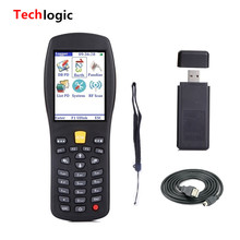 Techlogic X7 Wireless Laser Barcode Scanner Inventory PDA Bar Code Gun Display Merchandise information for Logistics Warehouse