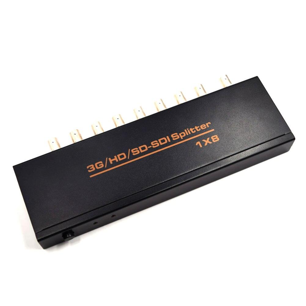 1Pc SDI Splitter 1x8 Multimedia Splitter SDI Extender Adapter 1 in 8 out Support SD HD