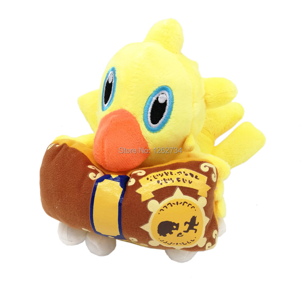 Chocobo Reading Book 14CM Plush Doll Figure Retail