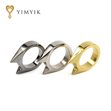 YimYik 2017 new Fashion The cat ear ring Men's outdoor self-defense Women's ring protection for women jewelry gifts