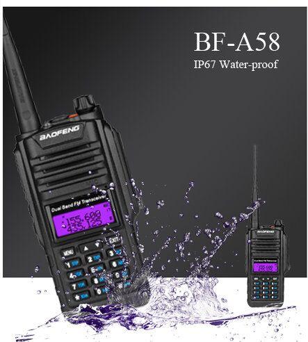 Baofeng BF A58 Waterproof Dustproof walkie talkie portable radio walk talk baofeng UV 82 UV82 gt