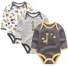 Одежда для малышей, комбинезоны для новорожденных, комбинезон для младенцев мальчиков девочек, одежда с длинными рукавами для младенцев, Roupas de bebe, детская одежда с круглым вырезом