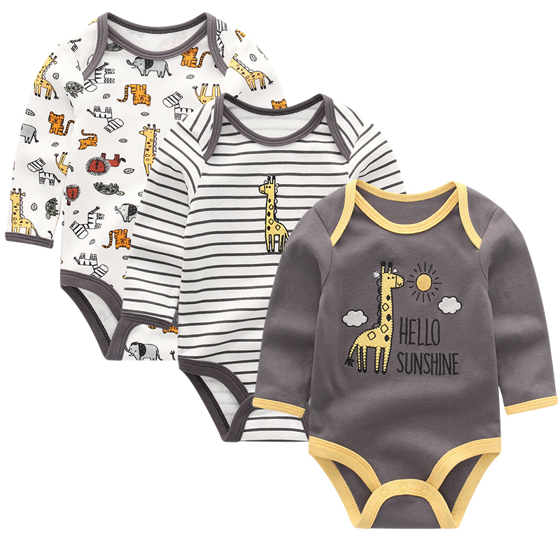 Baby Clothing 2020 Winter Newborn jumpsuits Baby Boy Girl Romper Long Sleeve Infant Ropa bebe Clothes O-neck Baby Product | Happy Baby Mama