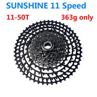 363g 11 Speed Bicycle Freewheel SUNSHINE 11 50T MTB wide than the MTB Bike different cassete SunRace 11 50 hot selling 2018