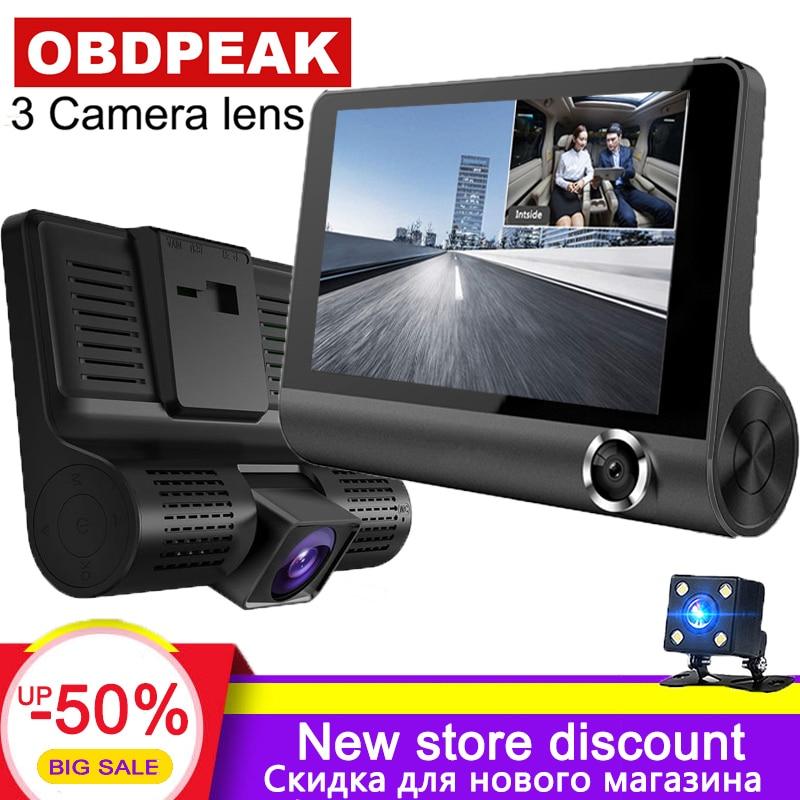 Car DVR Dash-Camera Video-Recorder Dual-Lens with HD 3 3-Way