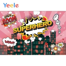 Yeele Superhero Posters City Building Boom Baby Kid Portrait Scene Photography Background Photographic Studio For Photo Backdrop