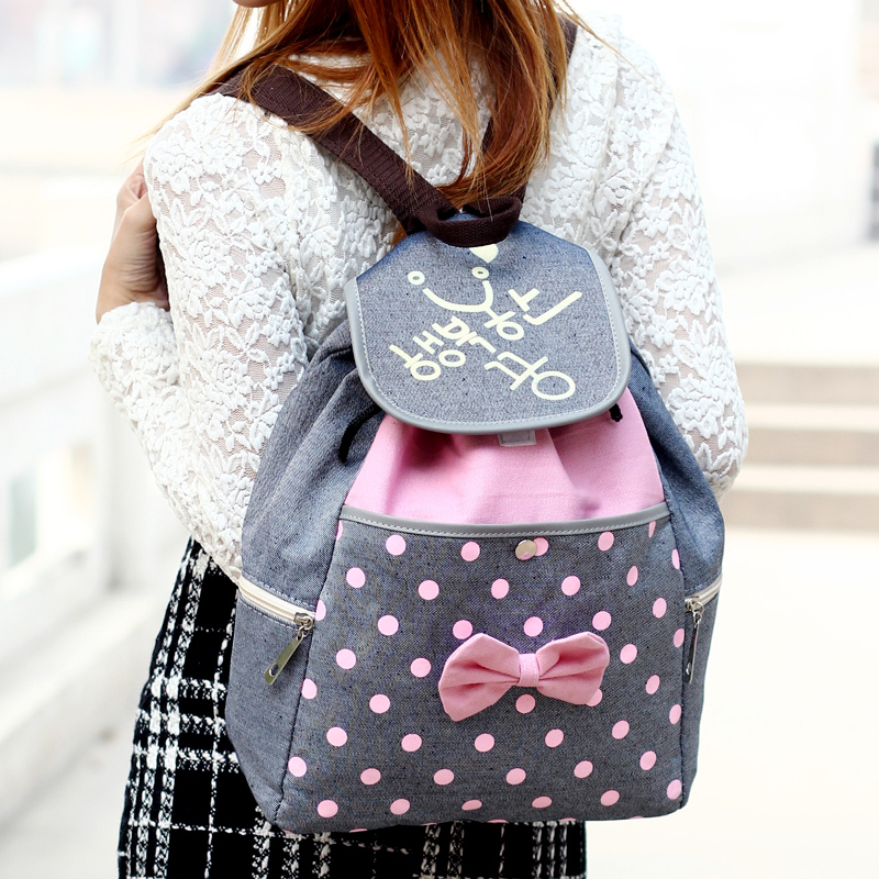 Cute backpack cartoon for middle school girl students-in Backpacks ...
