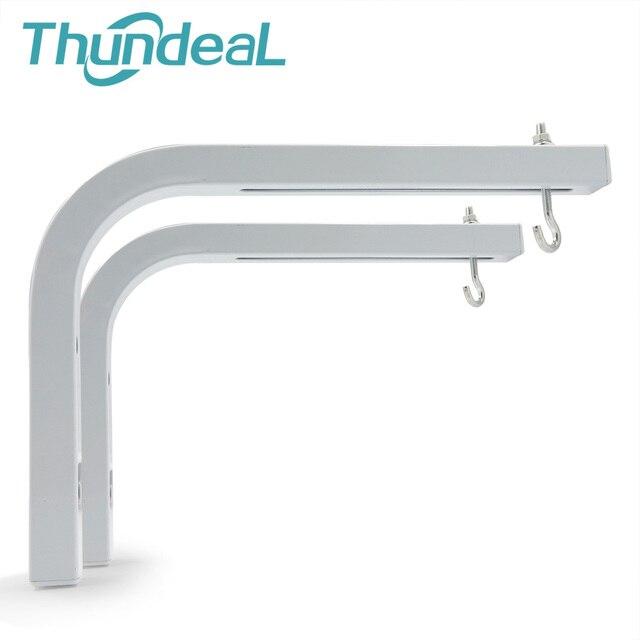 ThundeaL Einstellbare Projektion Bildschirm Aufhänger Decke Halterungen für Projektor Bildschirme L Form Halter Spezialisiert Aufhänger 90 grad