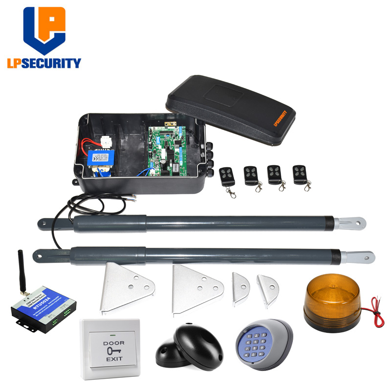 Image 3 - LPSECURITY DC12V AC220V Linear Actuator Worm Gear Automatic Swing Gate Opener (photocells, lamp,button,gsm,keypad optional)-in Access Control Kits from Security & Protection