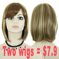 Promotional Products Short Bob Wigs for Women Sale Synthetic Ombre Brown Wig Short Bob Cut Wigs Cheap Wigs for Women