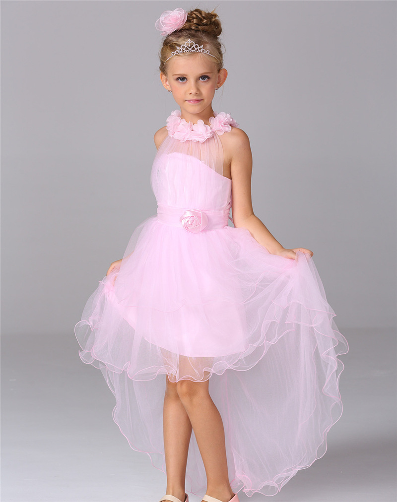 summer girl a birthday present American girls' cotton top grade gown trailing lace flower children pure Princess Dress holiday диск обрезиненный d51мм mb barbell atlet 2 5кг черный