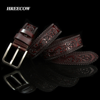 New Designer Belts For Men High Quality Cow Genuine Leather Belt Man Fashion Classic Vintage Pin