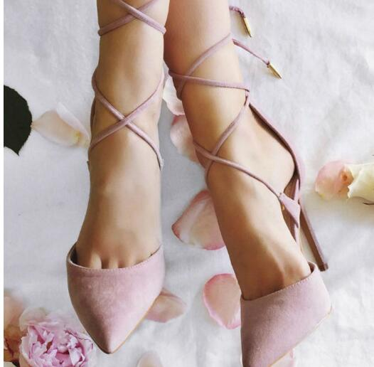 ФОТО New Style Beautiful Dream Pink Color Shoes Stiletto High Heels Spring And Autumn Shoes Suit To Any Professional Party Pumps
