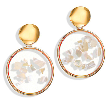 Geometric Shell Earrings For Women Earrings Jewelry Women Jewelry Metal Color: CS19062008