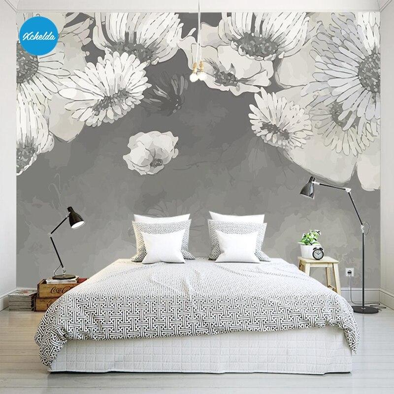 XCHELDA Custom 3D Wallpaper Design White Chrysanthemum Photo Kitchen Bedroom Living Room Wall Mural Papel De Parede Para Quart mukund shiragur d p kumar and venkat rao chrysanthemum genetic divergence