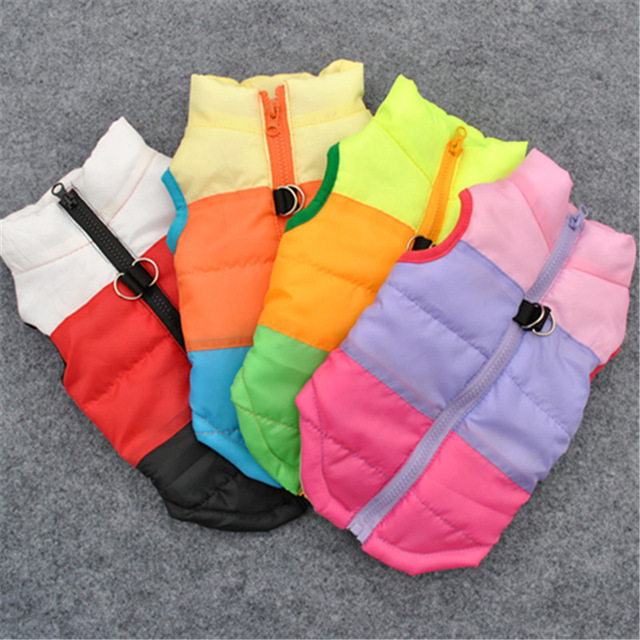 Pet Dog Jacket Cothes Windproof Coat Dogs Snowsuit Vest Harness Dog Puppy Pet Clothing Winter Warm Vests