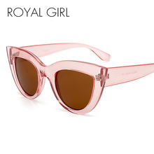ROYAL GIRL Fashion Cat Eye Sunglasses Women Luxury Designer Vintage Glasses Men High Quality Eyewear UV400 ss689