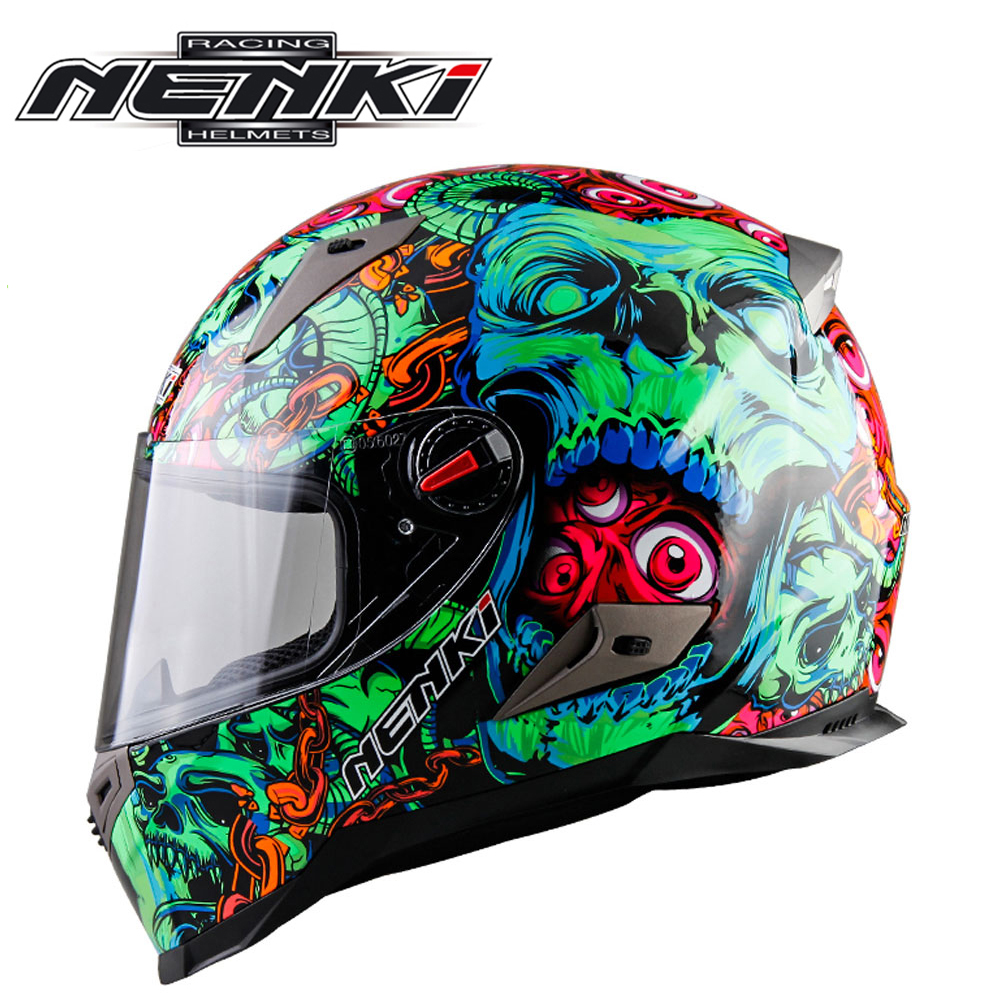 NENKI Motorcycle Helmets Motocross Racing Helmet Motorbike Full Face Helmet Capacete De Moto For Men And Women 13 Color nenki motorcycle helmets motocross racing helmet motorbike full face helmet capacete de moto for men and women 13 color