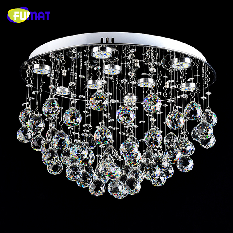 FUMAT K9 crystal Ceiling Lamp LED Dimming LED Lustre Crystal light For Living Room Brief Modern Chrome finished Crystal Lamps-in Ceiling Lights from Lights & Lighting on Shenzhen SUPERYUAN  Trade Co., LTD .