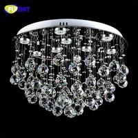 FUMAT K9 Crystal Ceiling Lamp LED Dimming LED Lustre Crystal Light For Living Room Brief Modern