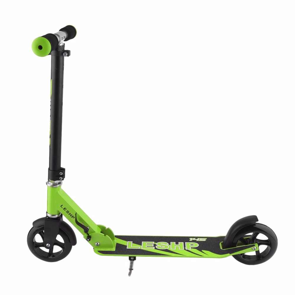 145MM Wheel Scooter Height Adjustable Adult Kick Scooter Portable Folding Urban Transportation Smart Scooter 24v 300w 2 10 35km luggage folding carbon fiber electric scooter adult kid school working vehicles travel 2 wheel lithium ion