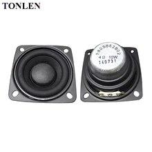 hot deal buy tonlen 2pcs 2 inch full range speaker 4ohm portable radio speakers 10w 15w 20w loudspeaker for diy hifi bluetooth speakers