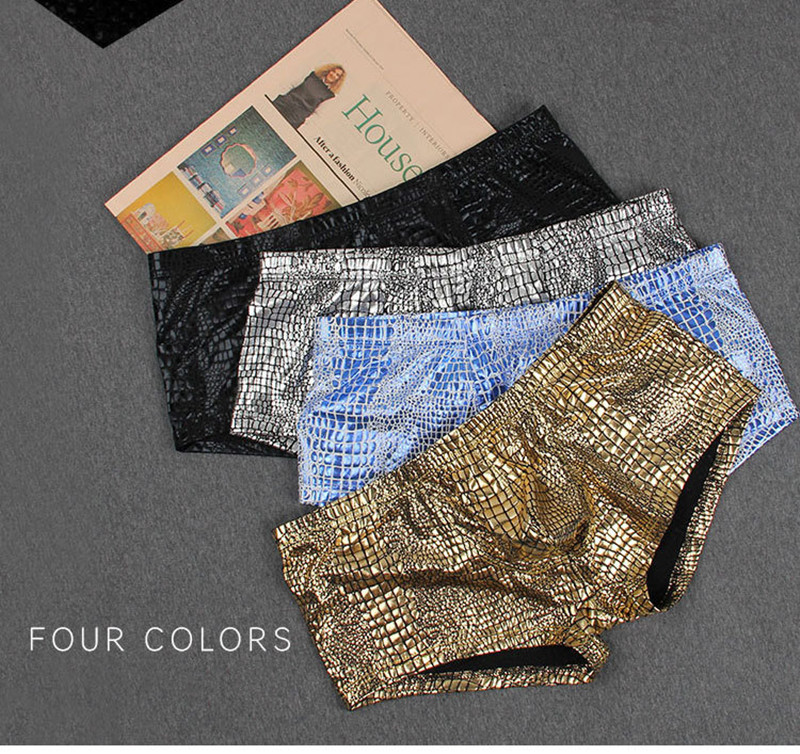 New men sexy underwear boxers Polyester fashion man boxer shorts trunks gay underpants casual sleepwear home wear men shorts in Boxers from Underwear Sleepwears