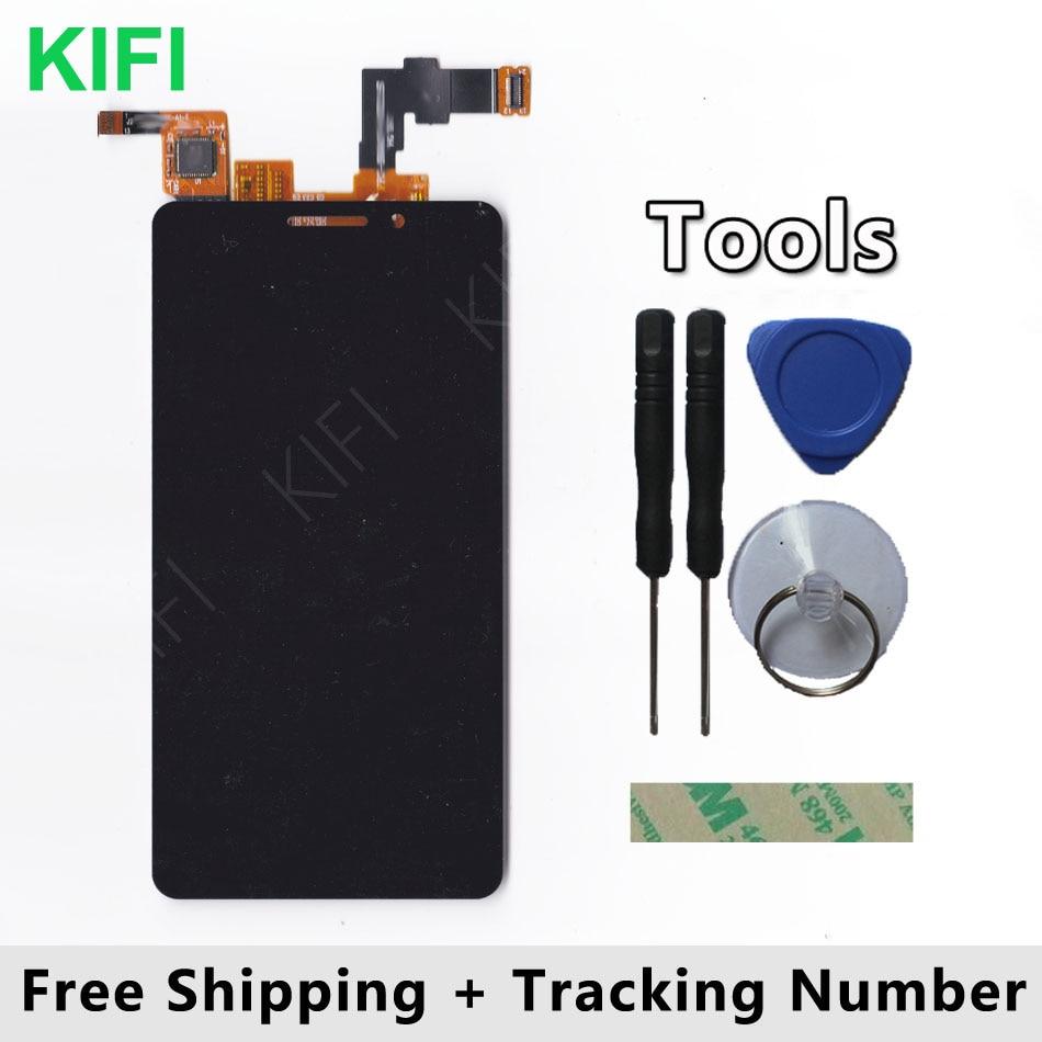KIFI 100% QC PASS écran LCD + écran tactile panneau de verre numériseur pour teXet TM-4677 TM 4677