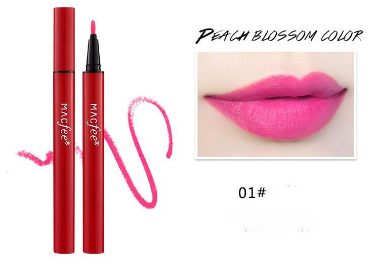 3 colors Lip Makeup Lipstick Pencil Waterproof Long Lasting Tint Sexy Red Lip Stick Beauty Matte Liner Pen Lipstick in Lipstick from Beauty Health