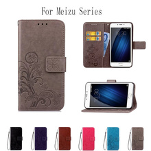 PU Leather Printing Phone Case Wallet Cover For Meizu M3 Mini Note 3 M3S M5S M5 M6 Note Flip Stand Book Capa Soft TPU Back Cover
