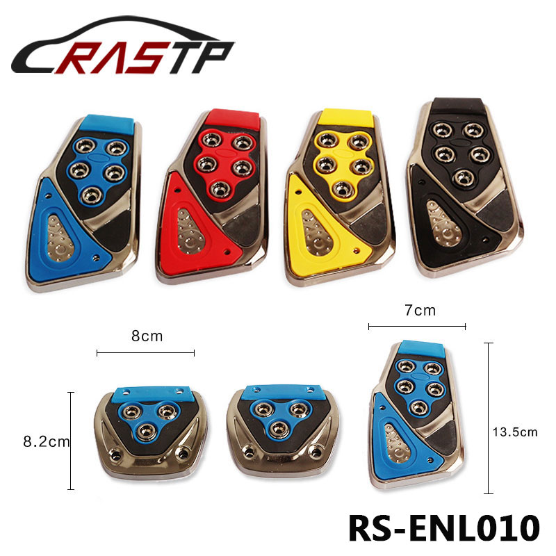 RASTP Cheap Car Styling Racing Pedals Universal Manual Brake Foot Rest Auto Pedal Pads RS-ENL010