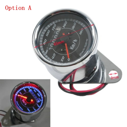 Universal Motorcycle LED Odometer/Tachometer Speedometer Gauge For Harley XL Sportster Honda Cafe Racer Yamaha Virago XV 250 500 old school motorcycle gauges