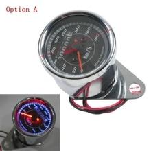 цена на Universal Motorcycle LED Odometer/Tachometer Speedometer Gauge For Harley XL Sportster Honda Cafe Racer Yamaha Virago XV 250 500