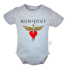 Bon Jovi Short Sleeve Rock Band Newborn Baby Boys Girls Jumpsuit Bodysuit Onesie