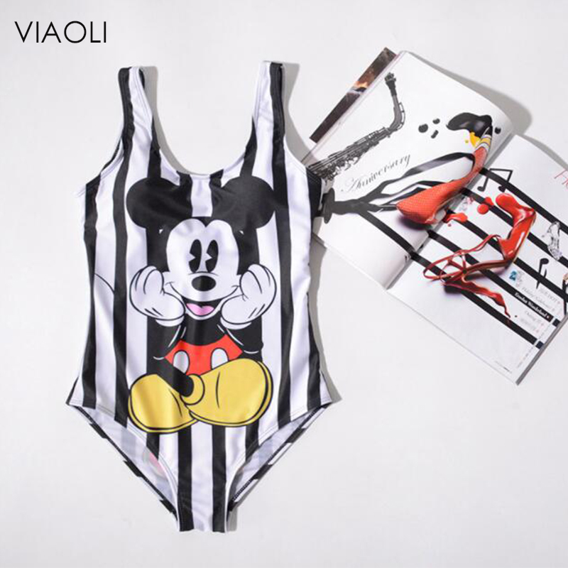 Women's Clothing J-bg Pink Runway Cartoon Print Dress Women Mickey Mous Summer Cotton Slash Neck Short Sleeve Casual Cartoon Jumpsuitdress