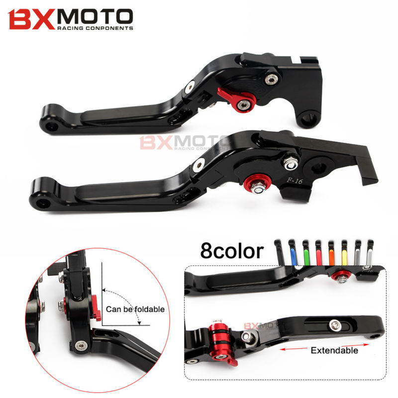 Motorcycle accessories CNC brake clutch lever set For Yamaha FZ6 FAZER FZ6R FZ8/ XJ6 DIVERSION FZ1 FAZER MT-07/FZ-7 MT-09/SR/FZ9 free dhl ems red sleeved 12 black