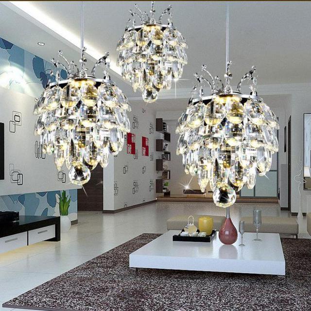 GroBartig Kunst Studio Hängen Kristall Kronleuchter Lampe Wassertropfen Kristall  Anhänger Kronleuchter Für Esszimmer Hause Kunst Licht U0026