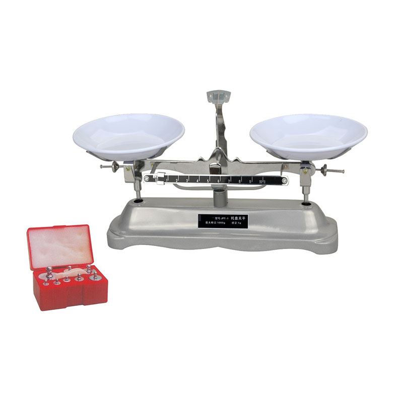 JPT-1 The 1000g/1g Table Balance Scale Mechanical Balance Scale Weight To Send Medicine Tray huangshan 1000g page 1