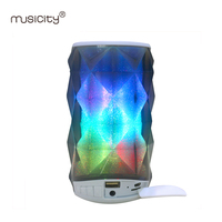 Outdoor Waterproof Speakers LED Portable Speaker Bluetooth For Phone PC With Column Loudspeaker USB SD Port