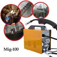 Mig 100 Portable Welding Machine No Gas Flux Core Wire 240V Professional Stable Efficient Mig Weldering Equipment UK Plug
